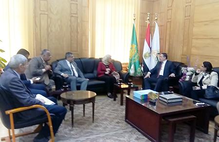 جامعة بنها تستقبل لجنة التعلم المدمج بالمجلس الأعلى للجامعات
