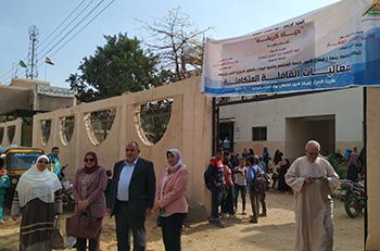 ضمن المبادرة الرئاسية حياة كريمة: جامعة بنها تنظم قوافل متكاملة بقرية الأحراز بشبين القناطر