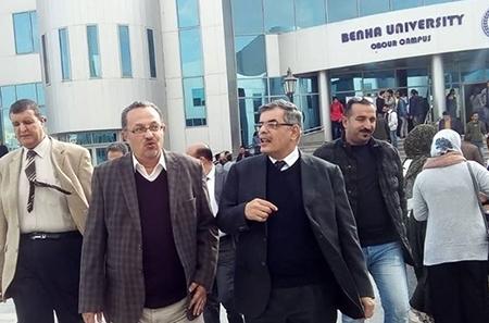 المغربي يتفقد سير الامتحانات بفرع الجامعة بالعبور