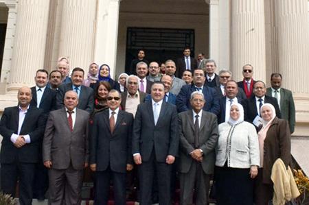 على هامش يوم أولمبياد الحاسبات الرابع: رئيس جامعة بنها يستقبل اعضاء لجنة قطاع الحاسبات بالمجلس الأعلى للجامعات