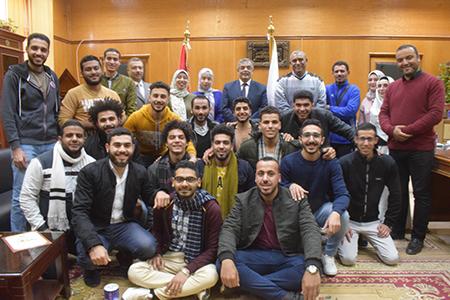 فى اطار التبادل الطلابى: جامعة بنها تستقبل وفدا طلابيا من جامعة المنوفية