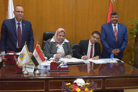 جامعة بنها توقع عقد مع مؤسسة AGA  تمهيدا لمنح شهادة جديدة لنظام الجودة