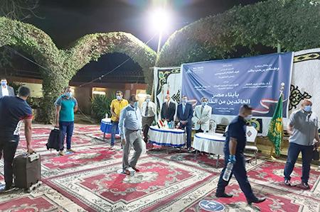 محافظ القليوبية ورئيس جامعة بنها يستقبلان 262 مصريا من العائدين بدولة الامارات بالمدن الجامعية بمشتهر