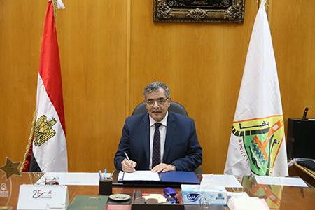 «المغربي»: مسابقة لإعداد بنوك أسئلة للمقررات بجامعة بنها