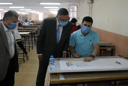 El Saeed inspects the Exams and opens A Science Museum at the Faculty of Engineering, Shubra